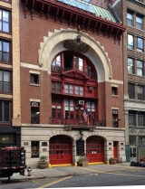 <h5>Flagg & Montgomery (Ernest Flagg), Engine Company No. 33 and Ladder Company 9, 42 Great Jones Street, 1899.</h5>