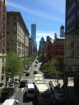 <h5>Lexington Avenue from the bridge at Hunter College.</h5>