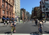 <h5>Lafayette Street during Summer Streets. Looking north from Great Jones Street.</h5>