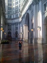 <h5>The New York Municipal Building in a hard, hard rain.</h5>