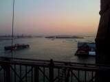 <h5>Sunset from the Brooklyn Bridge.</h5>