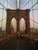 <h5>Brooklyn Bridge at sunset</h5>