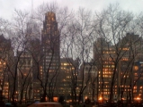 <h5>Bryant Park at dusk in winter</h5>