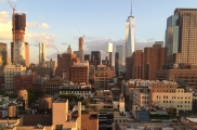 <h5>A summer sunset from a TriBeCa rooftop</h5>