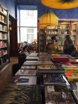 <h5>At the Albertine, the French bookstore in the French consulate.</h5>