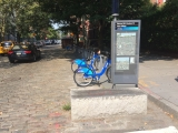<h5>CitiBike barrier (much more effective than plastic sticks)</h5>