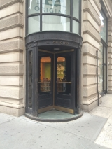 <h5>Shop door in the Flatiron Building</h5>