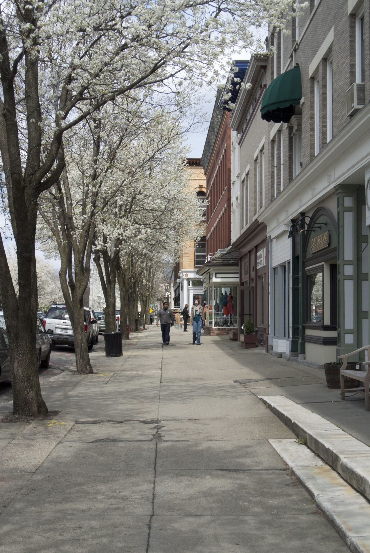Main Street, Great Barrington, Massachusetts. In the early spring.