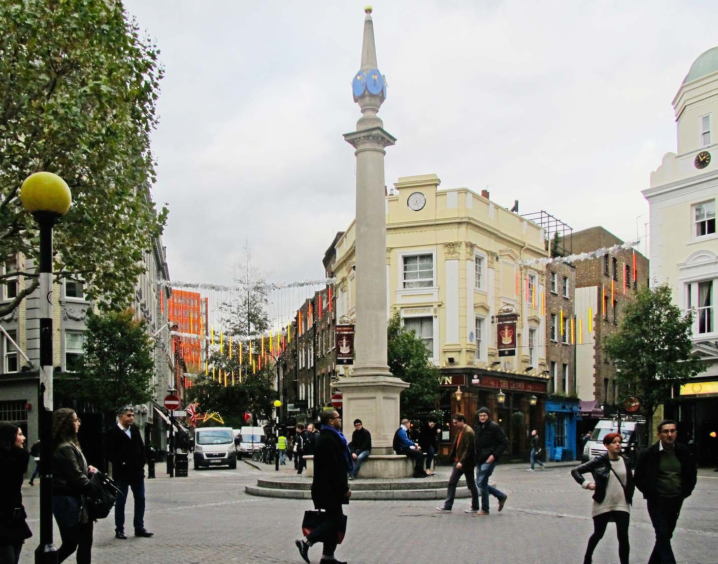 Seven Dials, London, England. A shared space.