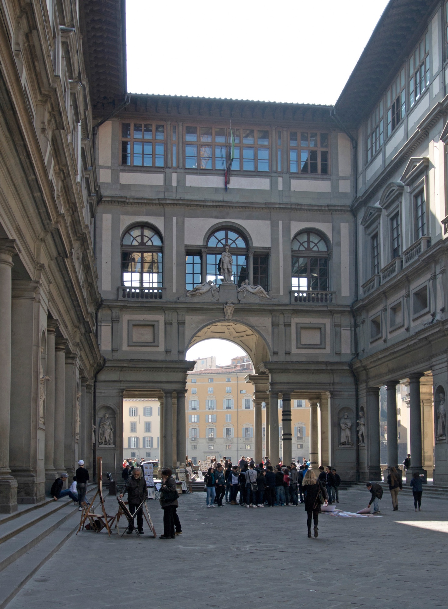 The Piazzale Uffizi, looking towards the Arno. © 2014 Massengale & Co LLC